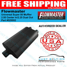 """Flowmaster 525552 Super 50 Series Series Muffler 2.5/"""" Center In//2.25/"""" Dual Out"""