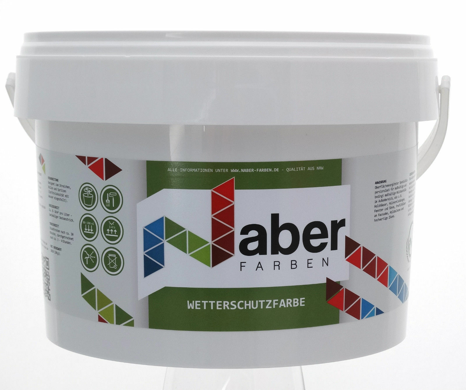 ( /L) 5 Liter - Wetterschutzfarbe - RAL 6019 WEISSGRÜN - MATT -