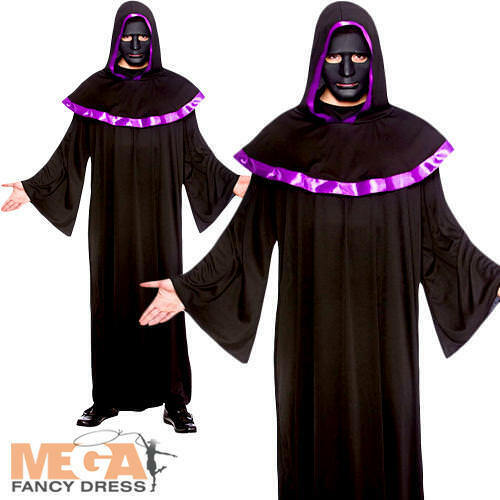 Details about  Cult High Priest Mens Halloween Horror Fancy Dress Saint & Sinners Adult Costume