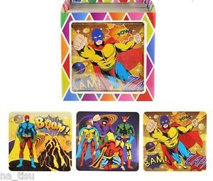 12 superhero jigsaw puzzle party bags filler goody gift for Backyard party decoration crossword