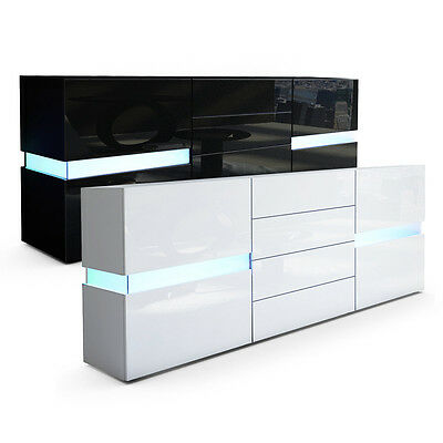 sideboard schwarz hochglanz good heute wohnen portland. Black Bedroom Furniture Sets. Home Design Ideas