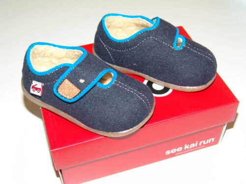See Kai Run Navy CRUZ casual warm shoes NEW with box sizes 5-11 US toddler