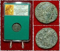 Ancient Roman Coin VALENTINIAN I Victory Walking With Wreath and Palm Branch