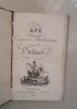 OTTECENTINA APE COMICA ITALIANA DOPO IL GOLDONI 1832