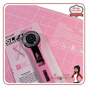 Olfa 45mm Blade Pink Rotary Cutter Self Healing Mat