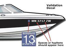 """Boat Registration Number Lettering Decals Vinyl PWC Lettering 3"""" x 20"""" (2 Sets)"""