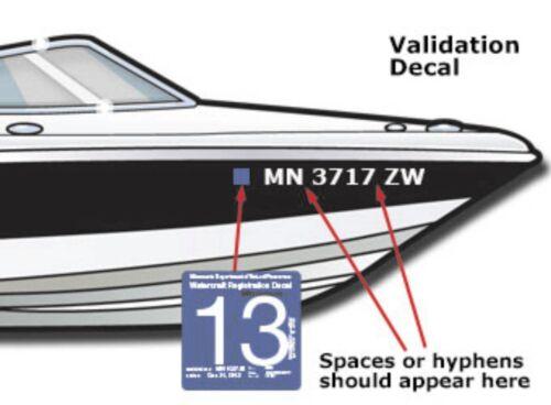 """1 Set Boat Registration Number Lettering Decals Vinyl PWC Lettering 3/"""" x 20/"""""""