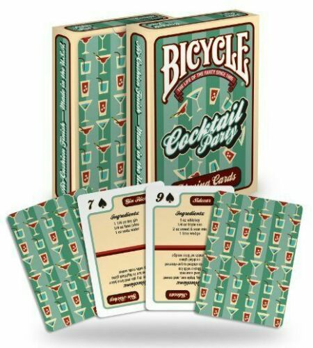 1 Deck Bicycle Cocktail Playing Cards with Drink Recipes Alcohol Party Time