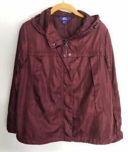Joy-Lab-Womens-Jacket-Athletic-Wear-Burgundy-Maroon-Hooded-Zip-Up-Medium
