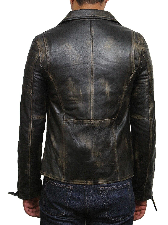 Cuir Brandslock Vintage Pour Hommes Vestes Mens Motard ww74t