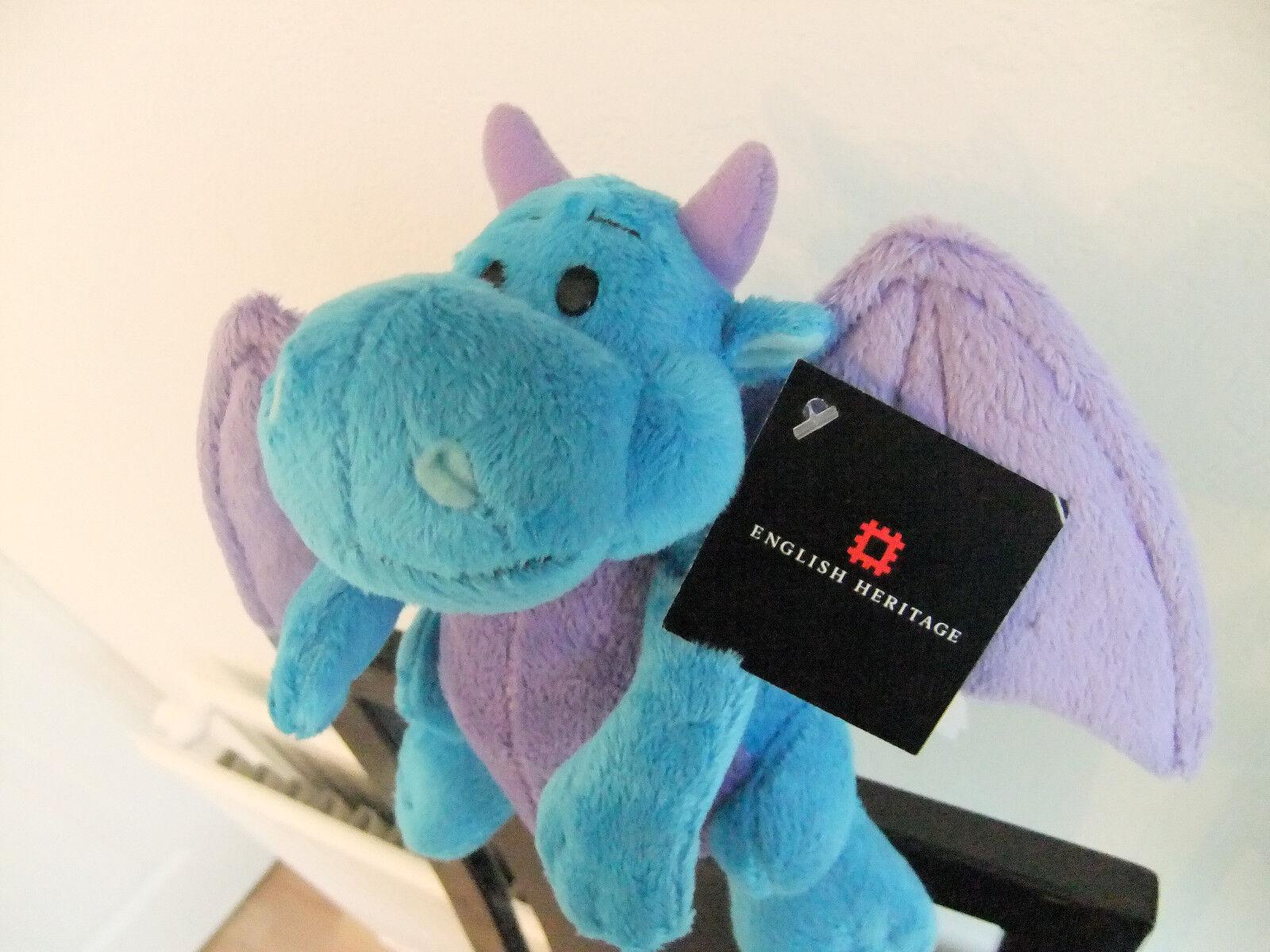 7  ENGLISH HERITAGE blueE PURPLE DRAGON SUKI TEDDY BEAR SOFT CUDDLY TOY NEXT HOLS