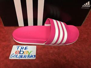adidas-B42122-Womens-Adilette-Cloudfoam-Slide-Sandal-Pink-White