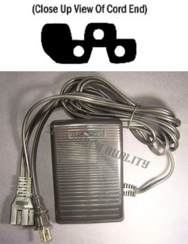 FOOT CONTROL PEDAL W// Cord White 1934D 1955 1977 1999 2000 2000ATS 2078 208 228