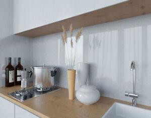 Lackiertes glas küchenrückwand  LACOBEL Grey Classic lackiertes Glas Küchenrückwand Spritzschutz ...