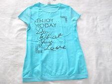 S.OLIVER Bluse LONG Shirt Gr. M 146 152 türkis NEU