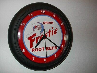 Frostie Root Beer Rootbeer Diner Soda Sign Wall Clock