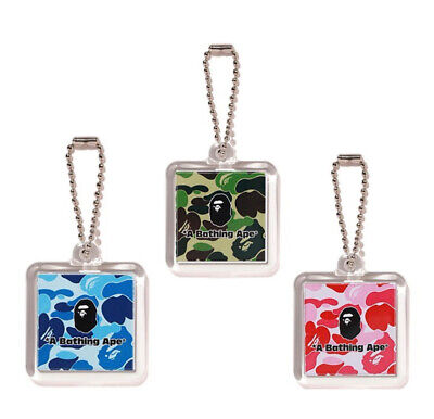 A BATHING APE Goods RUBBER KEY CHAIN Tag 4colors Best Gift From Japan New