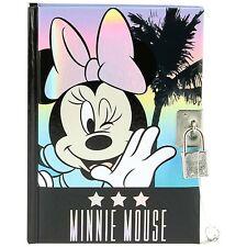 Official Disney Minnie Mouse Lockable Journal Notebook Diary - Padlock Keys A6