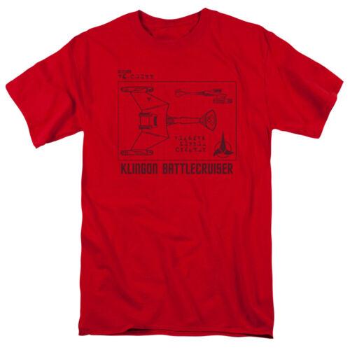 Star Trek Klingon Battlecruiser D7 DIAGRAM Adult T-Shirt All Sizes
