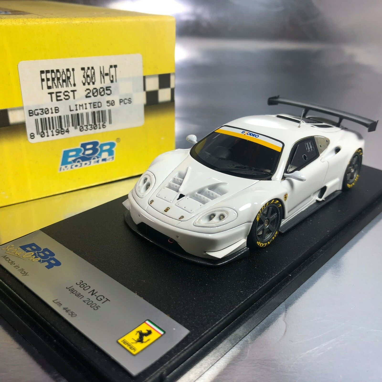 1 43 BBR  BG301B Ferrari 360 N-GT JGTC Test Car 2005 Ltd 50 pcs