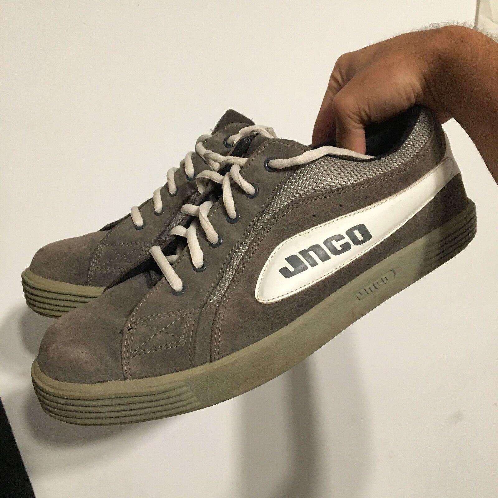 RARE Vintage JNCO suede skate sk8 skateboarding Scarpe grey Uomo size 11
