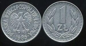 POLOGNE  1 zloty  1985  ( bis )