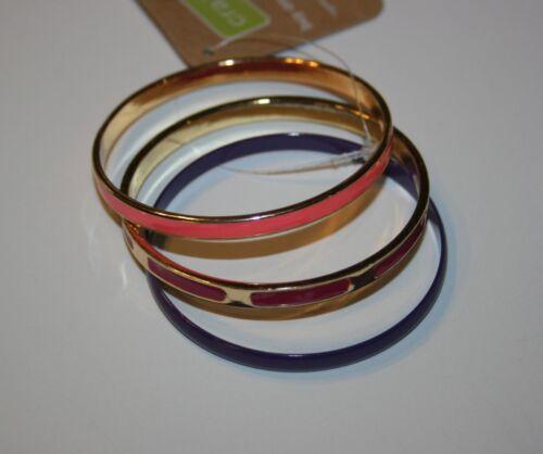 New Crazy 8 Pink Purple Gold Fuchsia Bangle Bracelet Bracelets One Size NWT