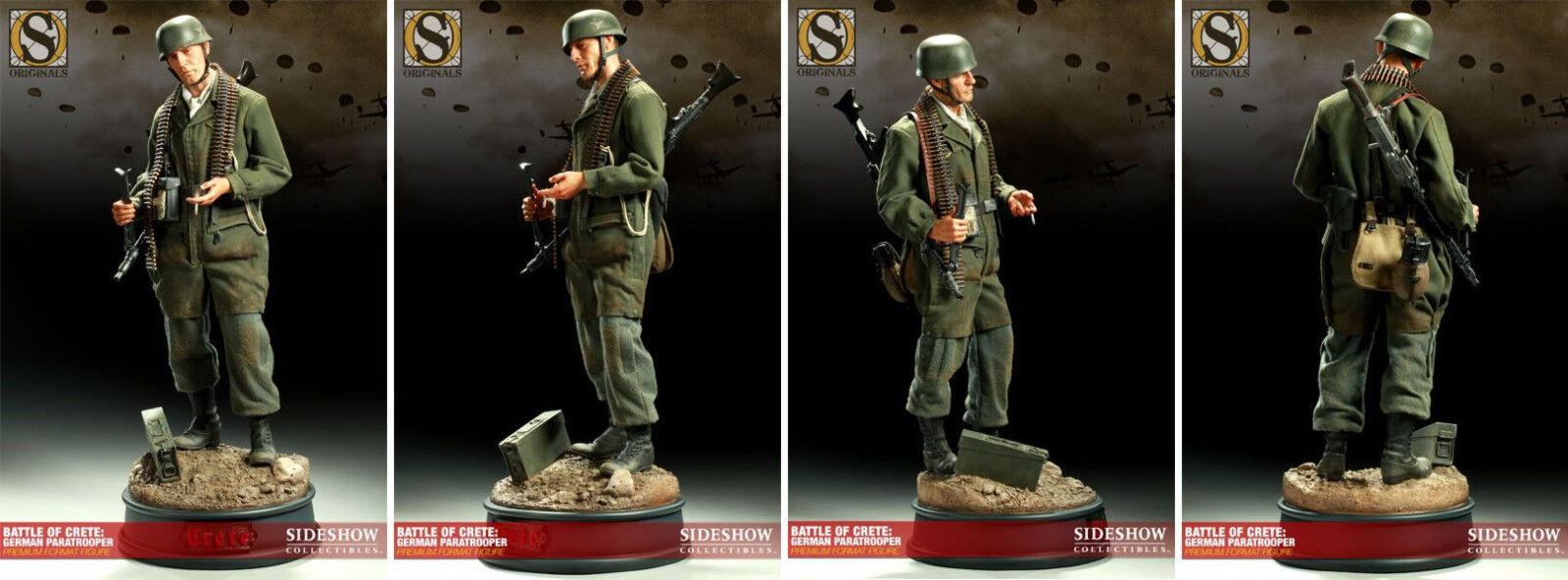 buena calidad SIDESHOW  Battle of Crete German Paratrooper Paratrooper Paratrooper  Premium Format  punto de venta