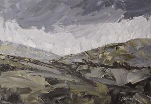 Snowdonia-Welsh-Mountains-ORIGINAL-OIL-PAINTING-Steve-Greaves-Wales-Kyffin-Art