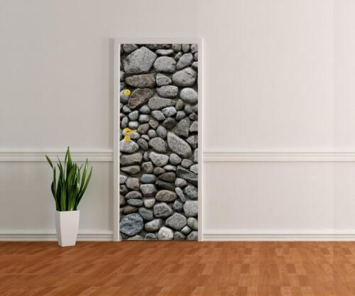 Türtapete Runder Natursteinmauer Tapete Kunstdruck Türbild M0708