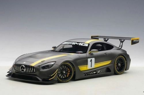 1 18 Autoart Mercedes-AMG gt3 Presentation Car (gris) (Composite Model 2 Door op