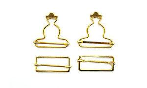Clip-de-Metal-Fastners-Peto-Hebilla-de-cinturon-Babero-de-laton-dorado-35mm-2-50-piezas