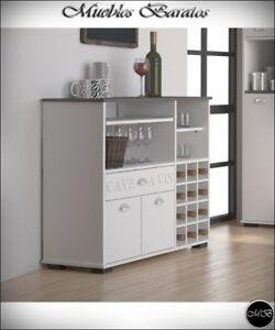 Buffet aparador botellero para cocina salon comedor mueble for Buffet cocina mueble