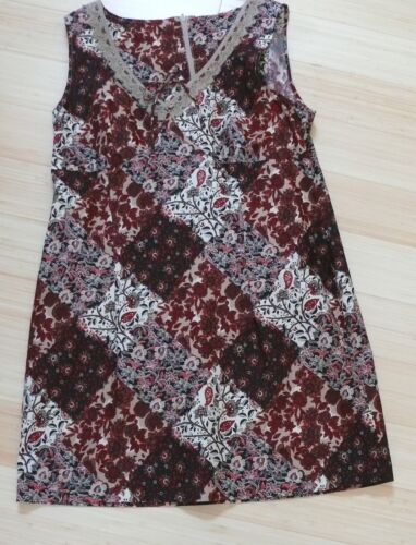 Late 1960`s to early 1970`s Cotton Browns Patchw… - image 1
