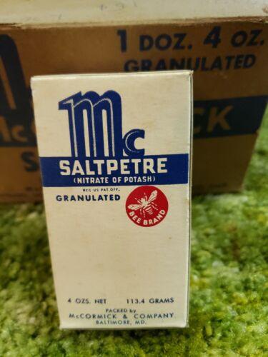 Vintage 1939 McCormick Bee Brand NOS Saltpetre Box Baltimore Md