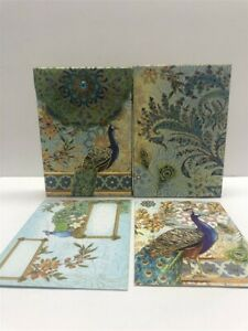 2-Punch-Studio-Pouch-Note-Cards-57938-Royal-Peacock-10-Blank-Cards-Set
