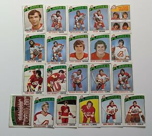 1976-77-O-Pee-Chee-Lot-of-21-ATLANTA-FLAMES-QUINN-BENNETT-LYSIAK