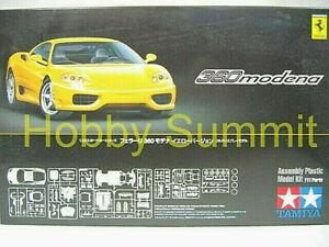 Tamiya-1-24-FERRARI-360-MODENA-in-Yellow-Model-Plastic-Kit-NIB-24299