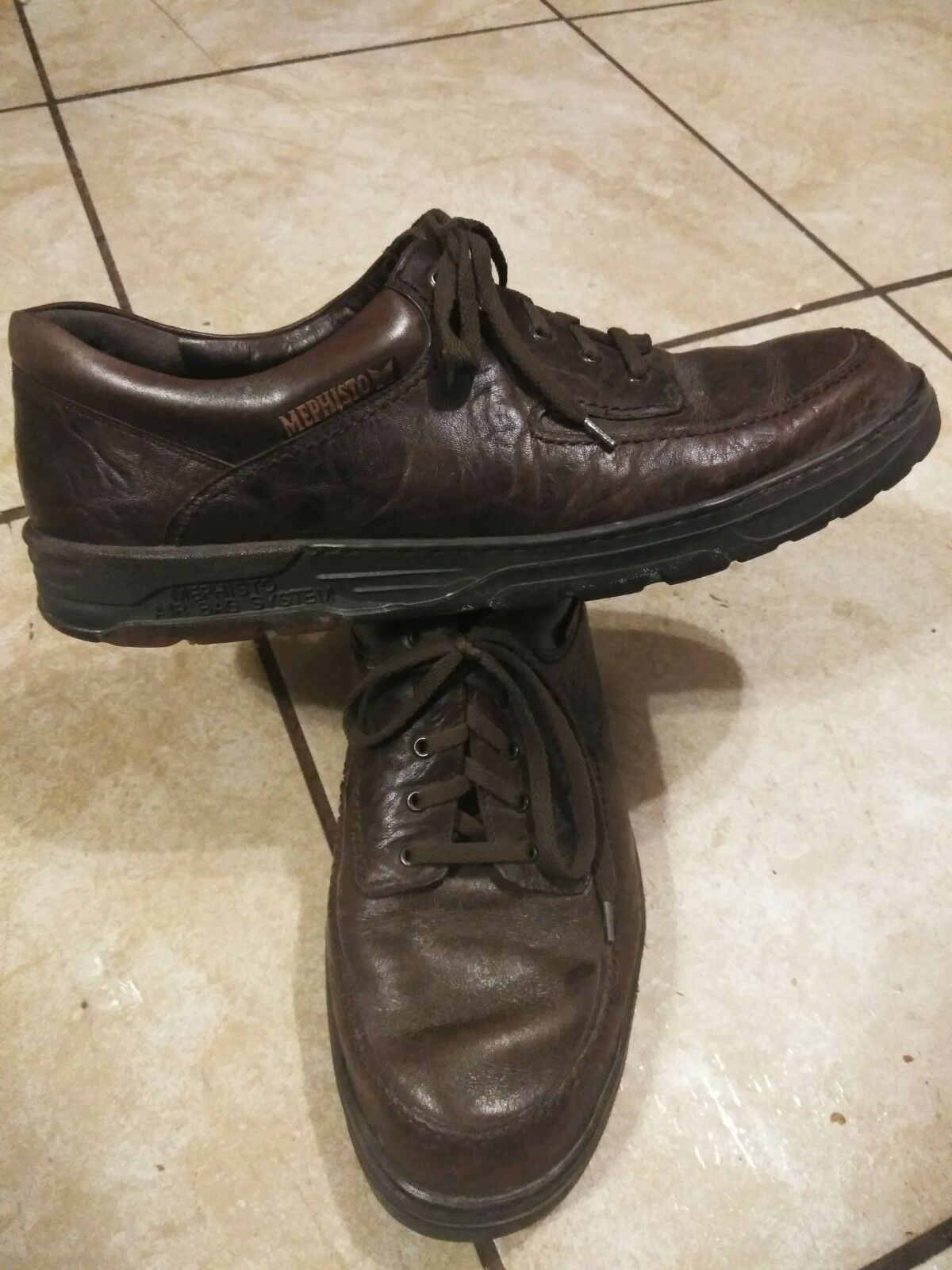 Mephisto Air Jet Jet Jet Men's Marroneee Leather Oxford Dimensione 13 24bf11