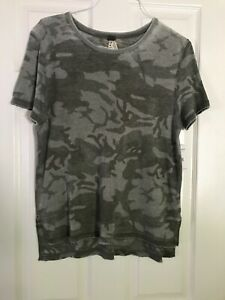 NWT Free People Camouflage Army Tee Shirt Top XS