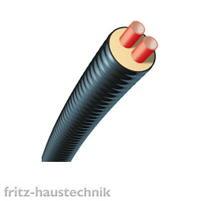 BRUGG Calpex Duorohr Fernleitung Fernwärme Rohr Heizung Erdleitung 2 x DN25 1m