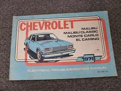 1978 Chevy Malibu Classic Monte Carlo El Camino Electrical ...