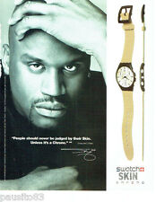 PUBLICITE ADVERTISING 026  2002  Swatch montre Skin chrono Shaquille O'Neal