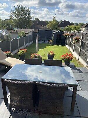 outdoor rattan garden furniture set used   eBay