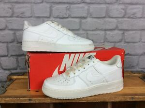 24ad5f4ceb0 NIKE UK 5.5 EU 38. SUMMIT WHITE AIR FORCE 1 LV8 LOW LEATHER TRAINERS ...