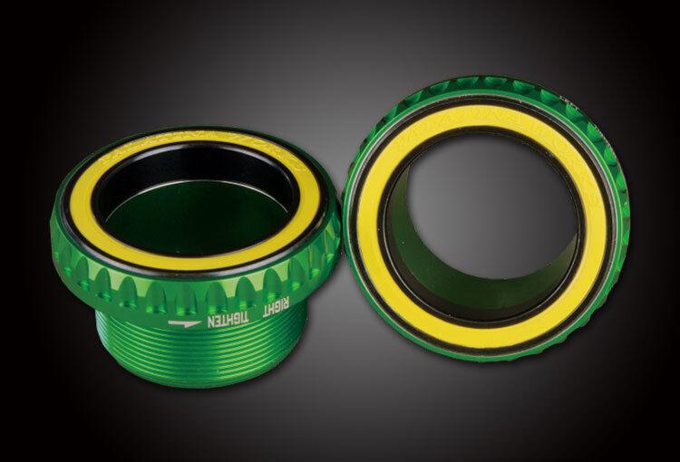 Yuniper 76g bb386 MTB pedales cerámica BSA adecuado a otros clavicula verde