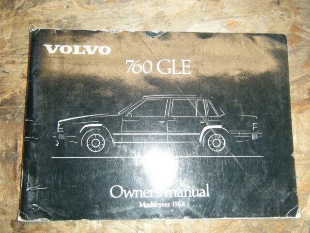 1983 Volvo 760 Gle Original Factory Owners Manual