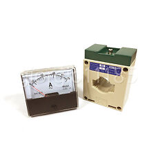 Us Stock Analog Panel Amp Current Meter Gauge Dh670 50a Ac Amp Current Transformer
