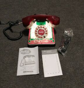 Coca-Cola 2001 RED 'STAINED GLASS' Looking Phone w/ Manual