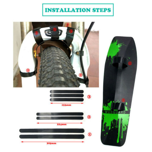 3pcs Mountain Bike Front//Rear//Down Wings Cycling Tube Bicycle fender Mudguard-.